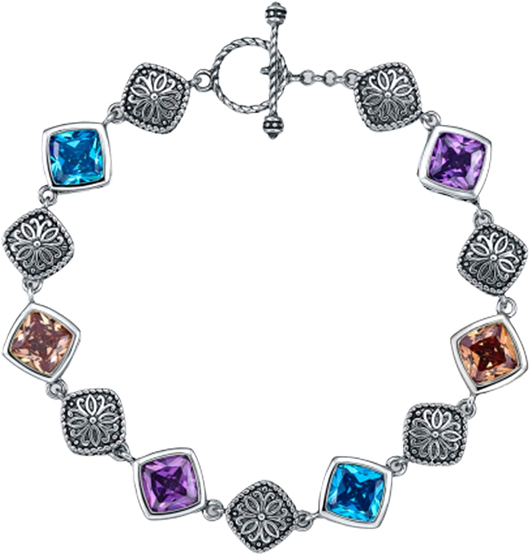 Merthus Boho Bracelet 925 新色追加 限定モデル Sterling Gemstone Created Silver Link