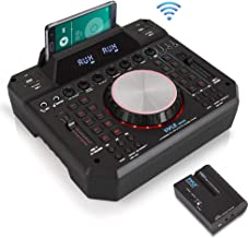 DJ Mixer Wireless Speaker Interface - 2 Channel Bluetooth DJ Controller Audio Mixer Recorder, No Wires Needed with Wireless Speaker Transmitter Digital Display, Dual USB SD,3.5mm Input - Pyle PMX6BU