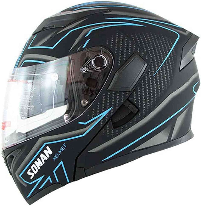Motorcycle Helmet Unisex Double Lens Open Face Helmet Four Seasons Riding OffRoad Highway Safety Helmet