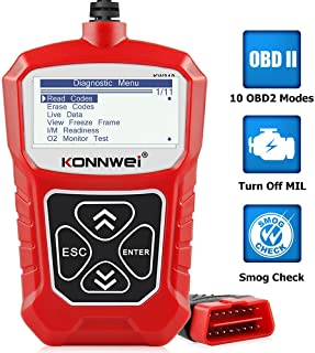 KONNWEI KW310 OBD2 Scanner Full OBDII Functions 10 Modes Automotive Engine Fault Code Reader Scan...
