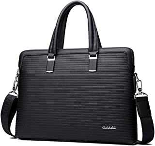 cjc Lawyer Briefcase Shoulder Bag, Laptop Case Briefcase Men Black/Blue