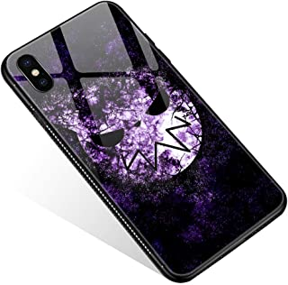 iPhone XR Case,Tempered Glass iPhone XR Cases Soul Eater for Women Girls Boys, Pattern Design Shockproof Anti-Scratch Case for Apple iPhone XR
