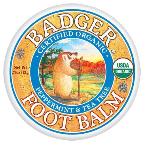 Badger Foot Balm Certified Organic Moisturises & Repairs Dry Cracked Feet 21g by Badger Balm