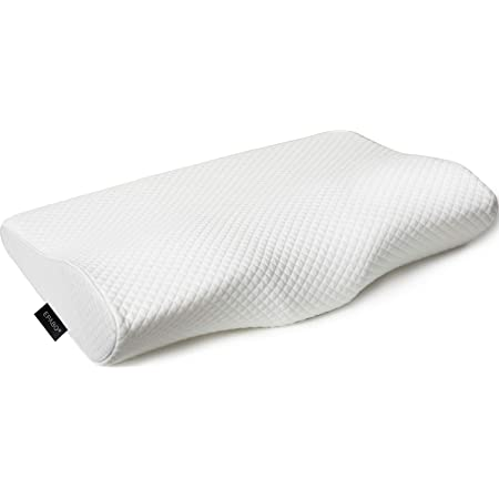 EPABO Contour Memory Foam Pillow Orthopedic Sleeping Pillows, Ergonomic Cervical Pillow for Neck Pain - for Side Sleepers, Back and Stomach Sleepers, Free Pillowcase Included (Firm & Standard Size