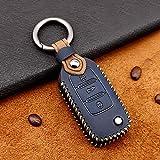 Para Volkswagen Car Key Cover Funda de cuero Key Fob Cover Holder Protector Para Vw Golf 7 Mk7 Polo Jetta 4 Touran T-roc Tiguan Seat Leon 3 Ibiza Karoq Octavia 3 Superb 3 Remote Car Key Case