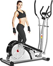 ANCHEER Elliptical Machine for Home Use, Magnetic Training Machine with Pulse Rate Grips and LCD Monitor, Smooth Quiet Dri...