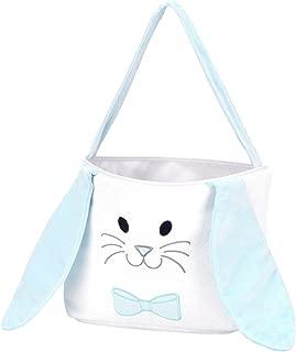 Wholesale Boutique Hippity Hoppity Bunny Blue 9 x 8.5 Plush Polyester Easter Bucket