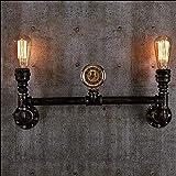Industrial Steampunk Bar Restaurante Tubos de agua 2-luces Retro Hierro Metal Lámpara de pared Luz decorativa Luz de pared Lámpara de pared Iluminación Accesorios de iluminación Rústico Rústico Dormit