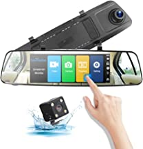 1080P Dual Lens Car Driving Recorder Ips Touch Screen, Dash Cam Front And Rear View Waterproof Backup Camera 2.5D Curved Surface Explosion-Proof Screen, Starlight Night Vision, Front And Rear Two-Way