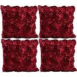 JOTOM Rosen Blumen Design Kissenbezug Einfarbig Dekokissen Kissen für  Zuhause Sofa Büro Outdoor...