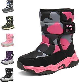 أحذية ثلج رائعة للأولاد والبنات من Flyor أحذية شتوية مقاومة للماء ومقاومة للانزلاق للطقس البارد