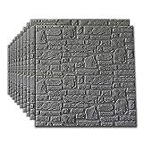 JU FU Papel pintado Engomadas de la pared de ladrillo de imitación, estéreo 3D XPE material imitación de ladrillo textura de la pared vinilo decorativo del dormitorio del hogar del papel pintado 10, 3