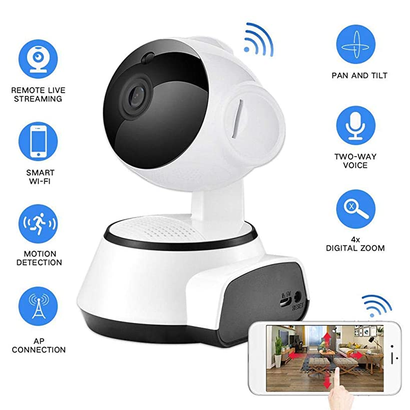 Oguine HD 720p Wireless IP Camera, Home Smart Security Surveillance Camera with Night Vision/Two-Way Audio/Motion Detection for Baby/Elder/Pet Monitoring