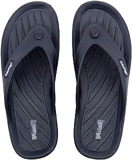 ASIAN Men's Slippers (Black_8 UK)