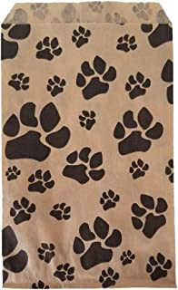 100 Bags Flat Plain Paper or Patterned Bags for Candy, Cookies, Merchandise, pens, Party Favors, Gift Bags (5