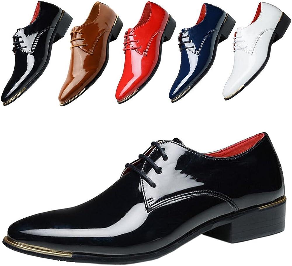 ALSYIQI Men's Classical Fashion Casual Oxford Business Shoes Dress Shoes