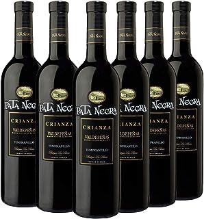 comprar comparacion Pata Negra Crianza Vino Tinto D.O Valdepeñas - Pack de 6 Botellas x 750 ml