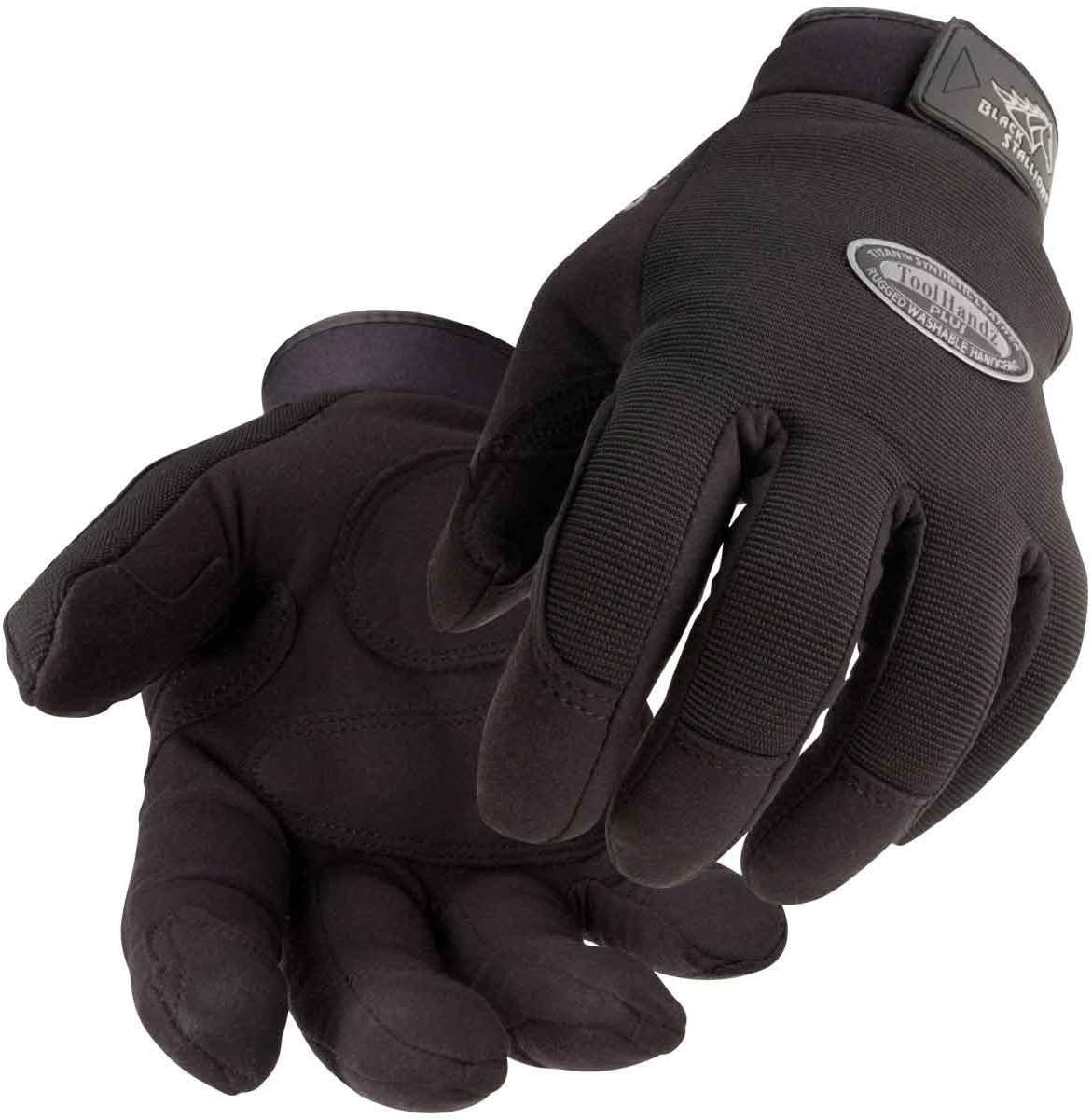 Attention brand Black Milwaukee Mall STALLION Tool Handz Plus - Gloves Reinforced Snug-Fitting