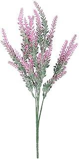 PAKUES-QO Faux Bouquet 25 Têtes De Noce Fleurs Artificielles Lavande Faux Bouquet De Mariée Fête Décorations Décor À La Ma...