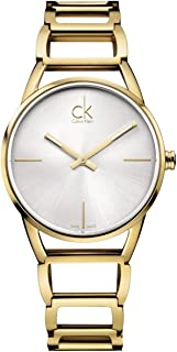 Calvin Klein Womens Quartz Watch, Analog Display and Stainless Steel Strap K3G23526