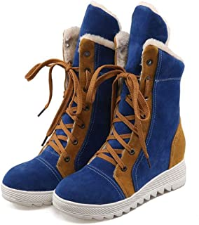 LaBiTi Winter Warm Plush Face Boots Half Knee High Boots Snow Boots Flat Shoes Women Shoes