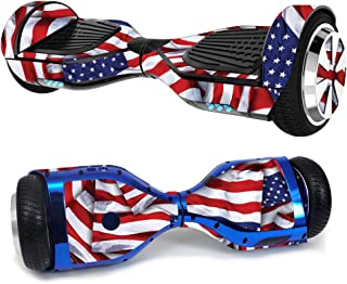 MightySkins Skin Compatible with Hover-1 H1 Hoverboard Scooter - Patriot   Protective, Durable, and Unique Vinyl Decal wrap Cover   Easy to Apply, Remove, and Change Styles   Made in The USA