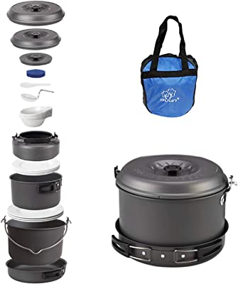 Bulin Camping Cookware Mess Kit - Top Camping Cookware For Family