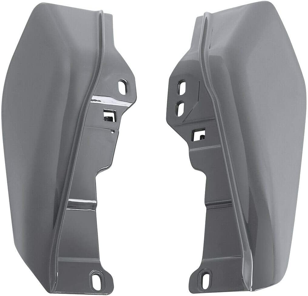 Ranking TOP6 Max 40% OFF Gunship Gray Mid Frame Air Deflectors Fit for Harley Touring Ele