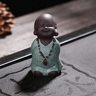 彫像と置物の装飾品紫の砂の小さな僧侶の仏茶寵の置物の彫像の装飾品