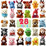 LYKJ-karber 28 Packs Ensemble Mini Animal Jouet en Peluche, Jouet en Peluche Mignons pour Décoration, Plush Toy comme Cadeaux d'enfants, Prix Étudiant, Remplissage de Cadeau pour Garçons et Filles