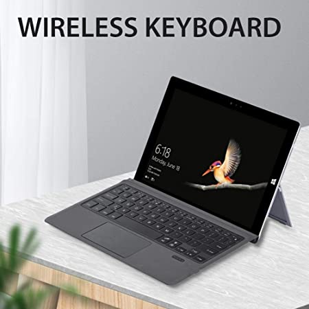 Verloco Wireless Keyboard For Surface Go For Microsoft Surface Pro Type Cover Keyboard For Surface Go Wireless Bluetooth 7 Colours Backlight With Trackpad Baumarkt