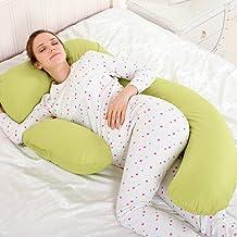 Novo 2.25Kg Pp Cotton Content Pregnancy & Maternity Pillow, Yellow - 175X80X25Cm,
