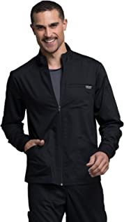 Cherokee Workwear Revolution Men's Zip Front Scrub Jacket