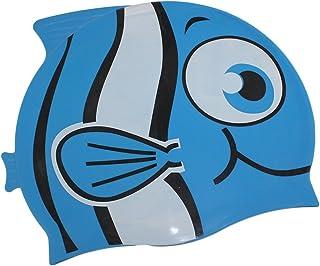 9f3f335b2 Touca Infantil Peixinho Azul Esporte Natação Piscina Nadar Promoção  Liquidação Barato Oferta Top