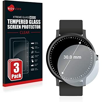 6 Pi/èces - Film Protection Ultra Clair savvies Protection Ecran Compatible avec Montres Circulaire, Diam/ètre: 33 mm
