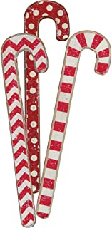 Primitives by Kathy Christmas Red and White Candy Canes, Set of 3, 3 Piece