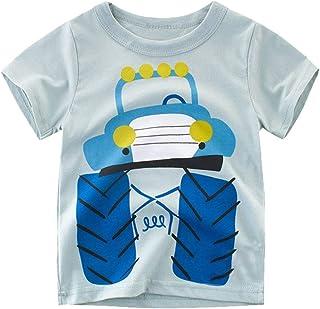 Dreamaxhp Kids Engineering Cars T-Shirts Short Sleeve Crewneck Tee for Boys Toddler