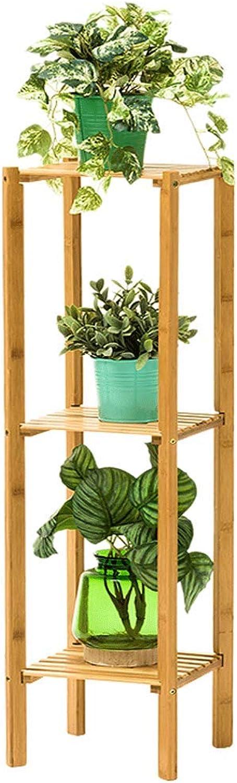 Creative Three-storys Flower Shelf Solid Wood Floor Living Room Balcony Province Space Fleshy Indoor Flower Pot Rack