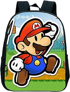 FENGHU Super Mario Mochila Super Mario Bros, Mochila de Hombro para niños, Mochila para Libros para niños, Mochila para ja...
