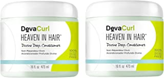 DevaCurl Heaven in Hair; Intense Moisture Treatment; Curly Hair; Paraben and Silicone Free; 16 Ounce; 2-Pack