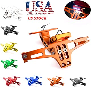 Universal Motorcycle Accessories CNC Adjustable License Plate Holder Fender Eliminator Bracket For Honda KTM Yamaha Suzuki Ducati Bmw