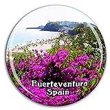 Weekino Playa Fuerteventura España Imán de Nevera Cristal 3D Cristal Ciudad Turística Recuerdo de Viaje Colección Regalo Fuerte Refrigerador Etiqueta