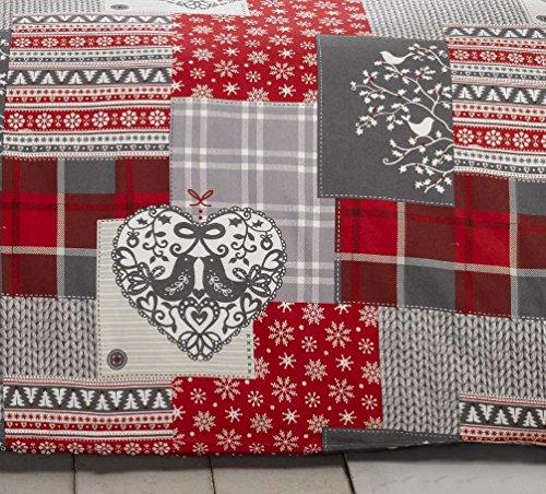 Weihnachten Patchwork 100% Baumwolle gebürstet Fra...