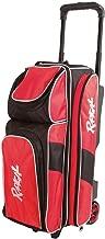 Radical Triple Roller Bowling Bag, Black/Red