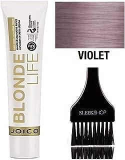 Joico Blonde Life QUICK TONE Liqui-Creme TONER (w/Sleek Tint Brush) Hair Color Liquid Cream Toner Haircolor Dye (QT Violet)