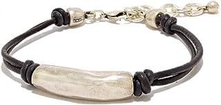 Fatto a mano - Bracciale in pelle per donna prodotto da Intendenciajewels - Gioielli per donna - Bracciale in pelle e perl...