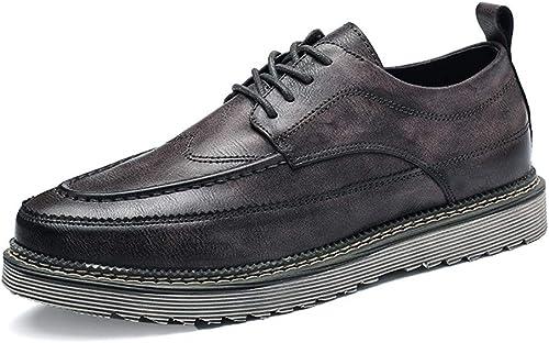 Herren Business Oxford Casual Comfort Schnürung New Vintage Einfache Sohle Formale Schuhe,Grille Schuhe