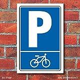 Schild Parken, Parkplatz, Fahrradparkplatz, Piktogramm, 3 mm Alu-Verbund 300 x 200 mm