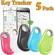 GBD 5 Pack GPS Tracker Smart Finder Locator for Kids Boys Girls Pets Key Wallet Car Dog Cat Child Bag Phone Alarm Anti Lost Selfie Shutter Wireless Seeker Christmas Birthday Gifts