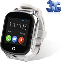 Autopmall GPS Watch Kids GPS Tracker Watch Waterproof IP65 SOS Call Function GPS WiFi LBS Real Time Tracking Health Steps Activity Tracking Boys Girls(Grey)
